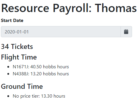CFI Payroll Report